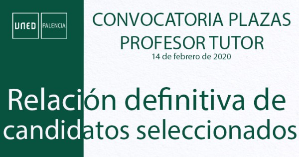 Convocatoria Profesor-Tutor 2020-2021