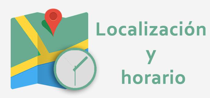 Localización y horarios
